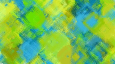 digital art abstract with yellow green, light sea green and teal blue colors. colorful dynamic artwork can be used as wallpaper, poster, canvas or background texture. Фото со стока