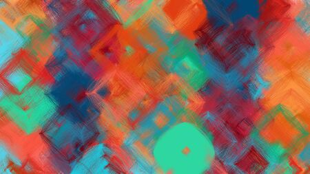 beautiful digital art with moderate red, coffee and teal blue colors. dynamic and colorful abstract artwork can be used as wallpaper, poster, canvas or background texture.