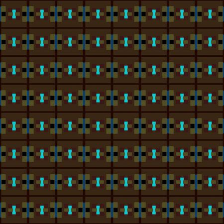 very dark green, dark turquoise and midnight blue repeating geometric shapes. can be used for tablecloth fashion design, textiles, wallpaper or as texture.