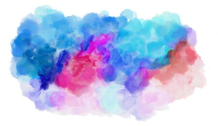 thistle, dodger blue and lavender blue watercolor graphic background illustration. painting can be used as graphic element or texture. Stok Fotoğraf