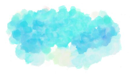 watercolor sky blue, light cyan and pale turquoise color graphic background illustration painting.