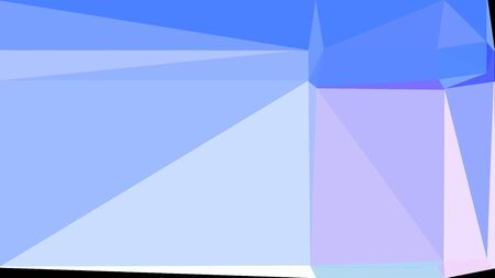 light sky blue, lavender blue and corn flower blue multi color background art. abstract triangle style composition for poster, cards, wallpaper or texture.