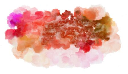 watercolor baby pink, pastel pink and indian red color graphic background illustration painting.