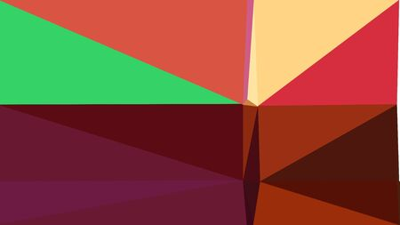 abstract geometric background with triangles and indian red, dark red and medium sea green colors. for poster, banner, wallpaper or texture.
