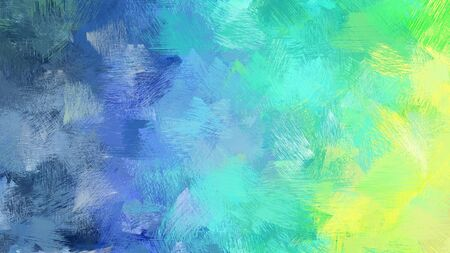 abstract brushed watercolor background medium aqua marine, medium turquoise and khaki color. use it as wallpaper or graphic element for poster, canvas or creative illustration.