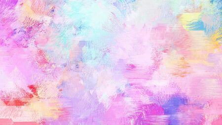 abstract brush painting for use as background, texture or design element. mixed colours of pastel pink, orchid and neon fuchsia.