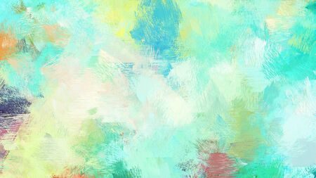bright brushed painting with tea green, medium turquoise and aqua marine colors. use it as background or texture.