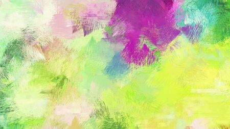 khaki, mulberry  and medium sea green color brushed painting. artistic artwork for use as background, texture or design element.