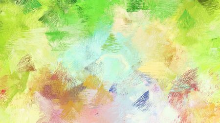 artistic illustration painting with khaki, lavender and yellow green colors. use it as creative background or texture. Stock Photo