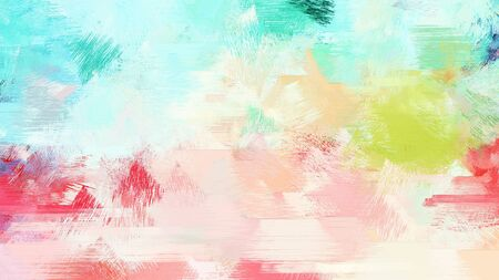 bright brushed painting with light gray, beige and medium turquoise colors. use it as background or texture.