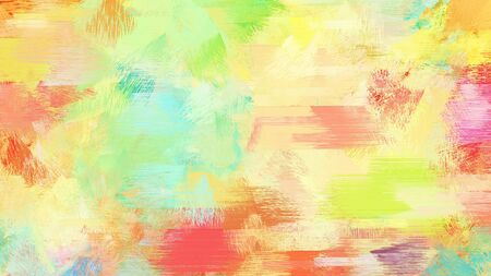 khaki, pastel red and peru color brushed painting. artistic artwork for use as background, texture or design element.