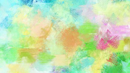brush painting with tea green, medium sea green and dark khaki background-color.