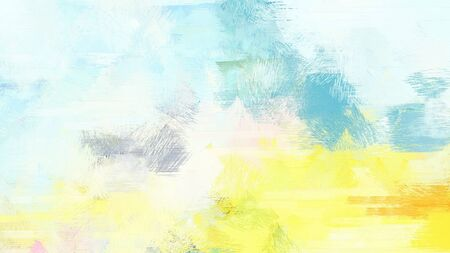 bright brushed painting with honeydew, pastel orange and pastel yellow colors. use it as background or texture. Stock Photo