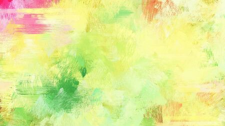 khaki, moderate green and pastel green color brushed painting. use it as background or texture. Stock Photo