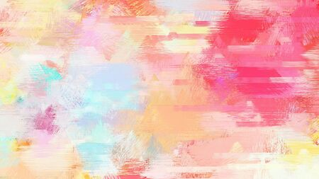 bright brushed painting with baby pink, bisque and pastel red colors. use it as background or texture.