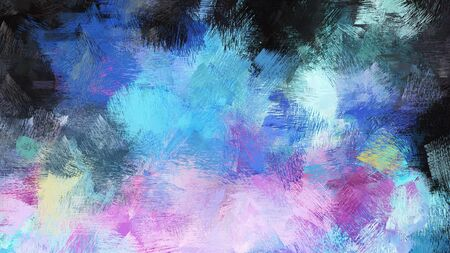 steel blue, thistle and sky blue color brushed painting. artistic artwork for use as background, texture or design element. Stok Fotoğraf