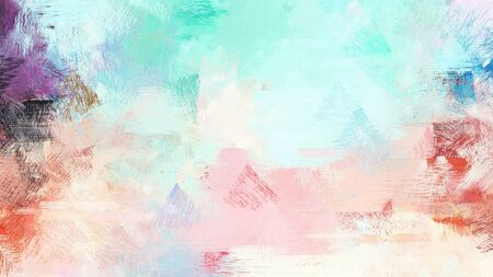 bright brushed painting with light gray, lavender and teal blue colors. use it as background or texture.