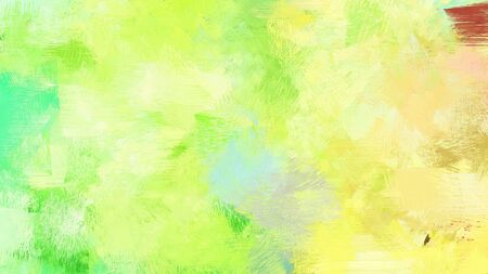 brush painting with mixed colours of khaki, pastel green and yellow green. abstract grunge art for use as background, texture or design element.