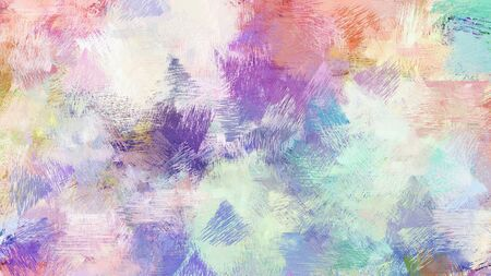 abstract brush painting for use as background, texture or design element. mixed colours of light gray, pastel purple and teal blue.