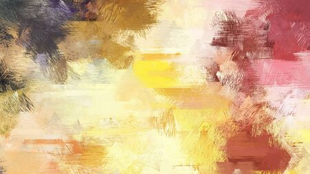 abstract brush painting for use as background, texture or design element. mixed colours of burly wood, khaki and old mauve. Stock Photo