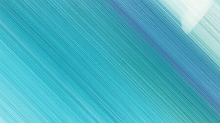 trendy background with light sea green, pale turquoise and sky blue lines. can be used for cover design, poster, wallpaper or advertising.