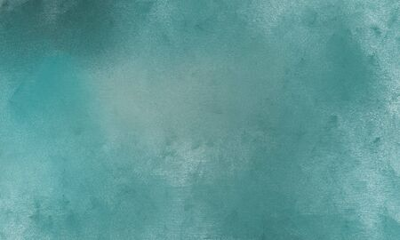 background texture painted with cadet blue, pastel blue and pale turquoise color. can be used as graphic element, wallpaper and texture. Standard-Bild - 129219445