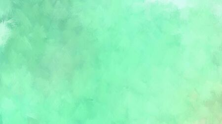 abstract background with space for text or image. aqua marine, tea green and medium aqua marine colored illustration. use painted graphic it as wallpaper, graphic element or texture. Banco de Imagens