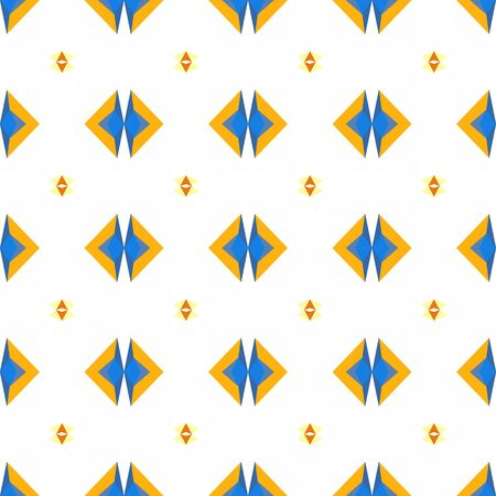 seamless wallpaper design pattern with steel blue, light golden rod yellow and amber colors.
