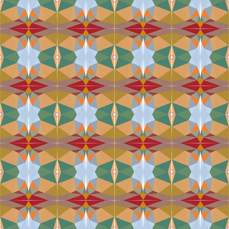seamless repeating pattern design with dark khaki, gray gray and light blue colors.