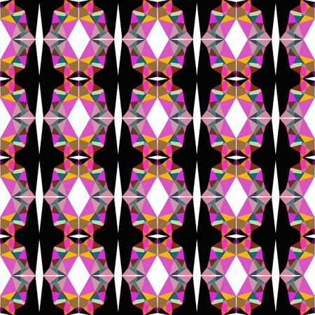 seamless pattern light with pale violet red, black and pastel brown colors.