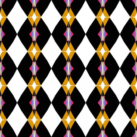 seamless repeating pattern simple with black, golden rod and moderate pink colors.
