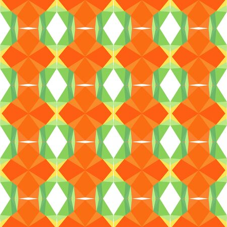 seamless repeatable pattern light with pastel green, dark orange and khaki colors.
