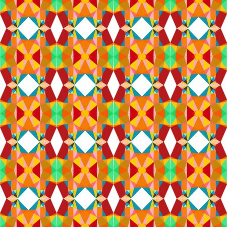 seamless repeatable pattern abstract with light sea green, firebrick and dark orange colors.