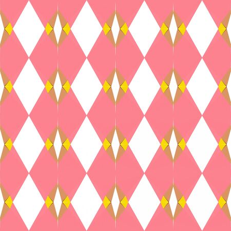 seamless pattern design with light coral, gold and sea shell colors.