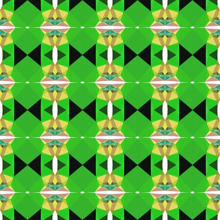 elegant seamless pattern with lime green, dark khaki and very dark green colors.