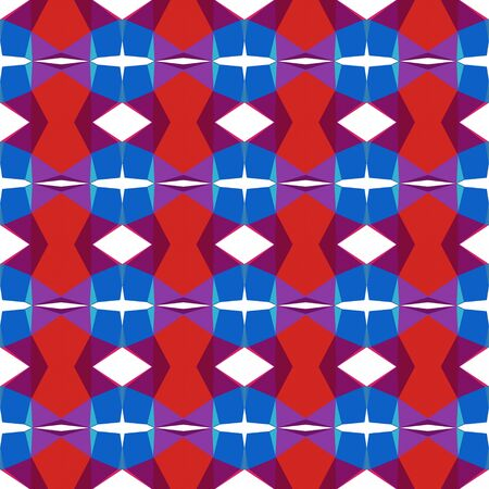 seamless repeating pattern abstract with strong blue, crimson and dark moderate pink colors.