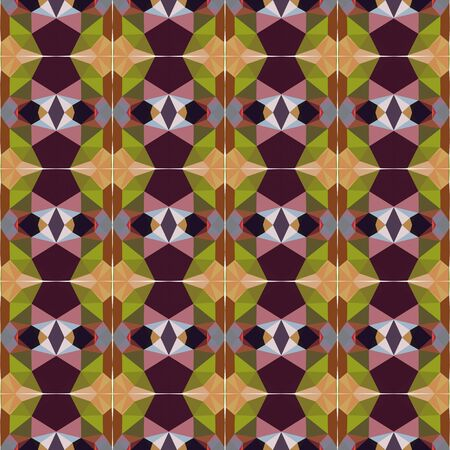 seamless repeatable pattern abstract with pastel brown, brown and very dark pink colors. Foto de archivo - 129710956