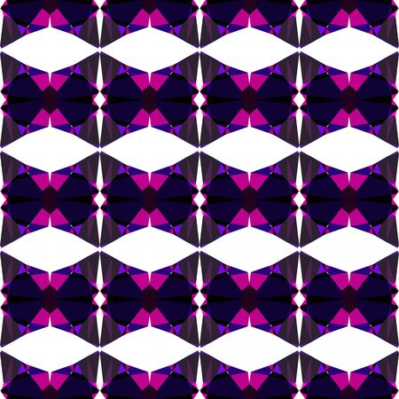seamless repeating geometric pattern with very dark blue, medium violet red and misty rose colors.