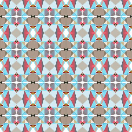 abstract seamless pattern with pastel blue, indian red and brown colors. Stock Photo