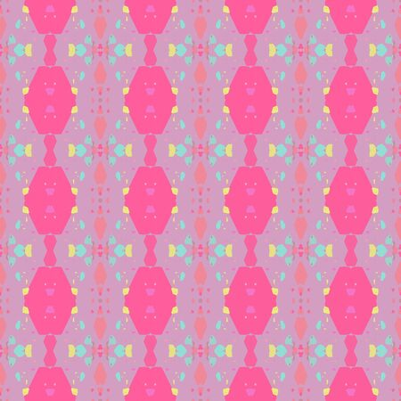 colorful seamless pattern with pastel violet, hot pink and ash gray colors. endless texture for wallpaper, creative or fashion design. Foto de archivo - 129710896