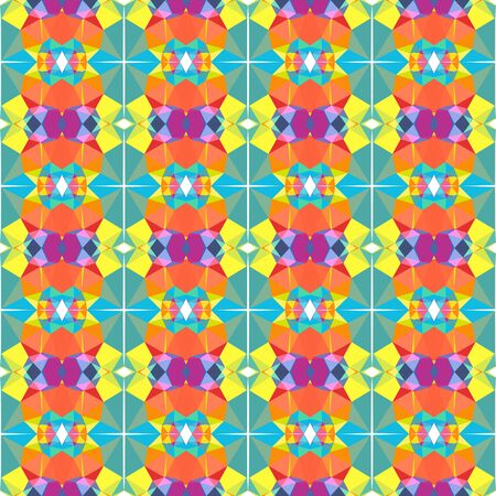 seamless repeating pattern texture with light sea green, coral and light pastel purple colors. 写真素材