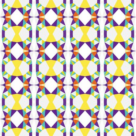 seamless repeating pattern background with white smoke, dark slate blue and pastel orange colors. Stock Photo