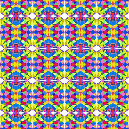 seamless pattern light with golden rod, green yellow and strong blue colors.