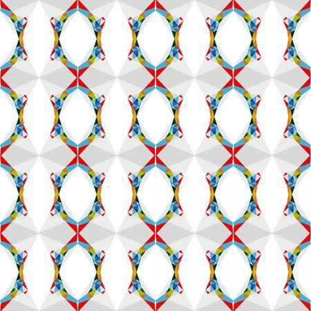 elegant seamless pattern with light gray, steel blue and red colors.