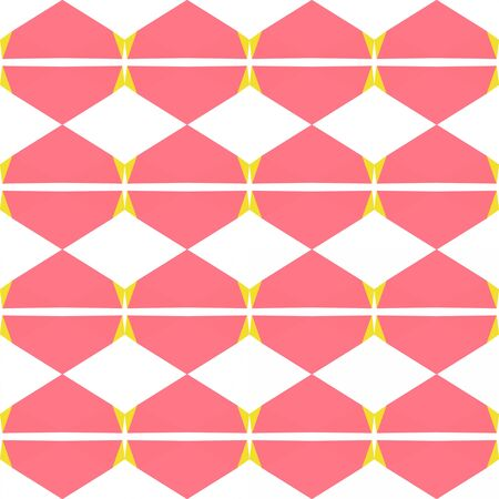 seamless repeating pattern design with light coral, gold and white smoke colors.