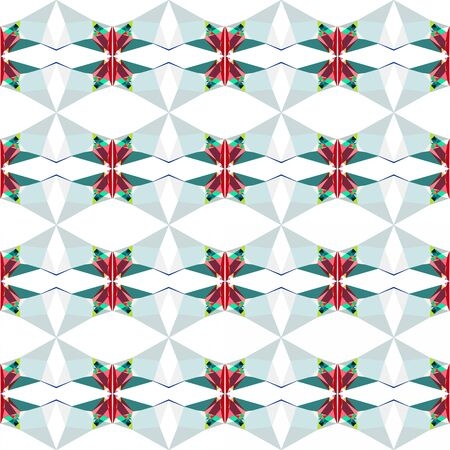 seamless repeating pattern light with light gray, teal blue and firebrick colors. 写真素材