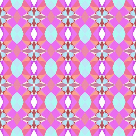 seamless geometric pattern with violet, light coral and pale turquoise colors.