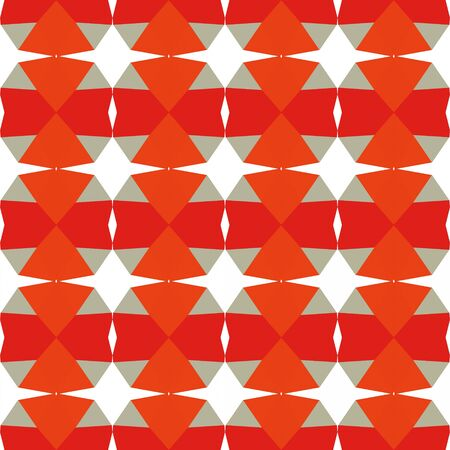 decorative seamless pattern with orange red, ash gray and tan colors.
