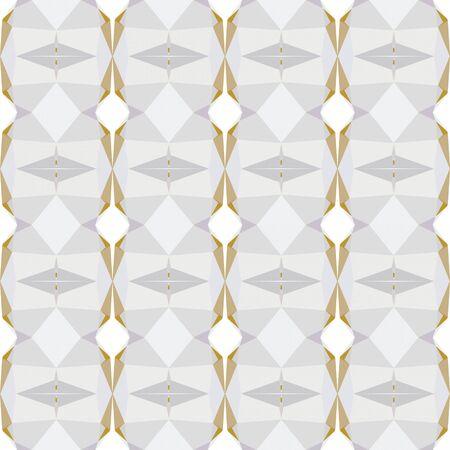 seamless repeatable geometric pattern with lavender, tan and peru colors. Foto de archivo - 129708582