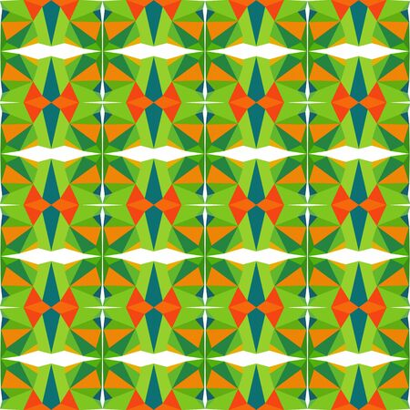 seamless wallpaper pattern with moderate green, dark orange and sea green colors. Foto de archivo - 129709014